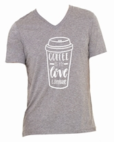 Coffee is My Love Language Heather Grey V-Neck triblend Assortment