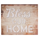 BLESS OUR HOME - 15.75X19