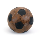 LL Faux Leather Soccer Ball Door Stop