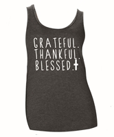 Grateful Thankful Blessed Tank Top Assortment FREE Display