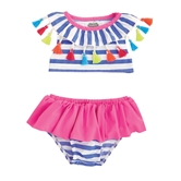 Striped Tassel Two-Piece Swimsuit Toddler Kit