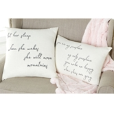 Handwritten Girl Nursery Pillows