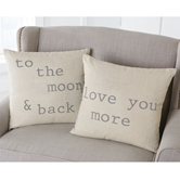 Washed Canvas Patch Pillows