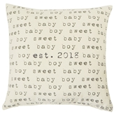 Baby Boy Est. 2018 Pillow