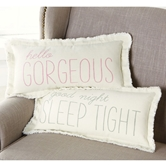 Frayed Washed Canvas Girl Nursery Pillows