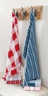 Red & Navy Dish Towels