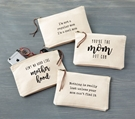 Mom Canvas Pouches