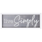 LIVE SIMPLY - 21X8