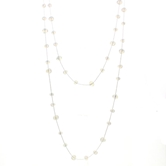 "60"" Moonstone Knotted Wrap Necklace"