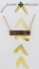 "16"" Gold Necklace with Cursive ""Wifey"" Gold Bar, 3"" Ext."
