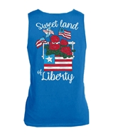 Sweet Land of Liberty Neon Blue Tank Top Assortment