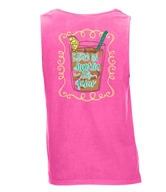 Raised on Sweet Tea and Jesus Neon Pink Tank Top Assortment