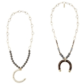 Beaded Crescent Necklaces