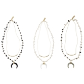 Crescent Layering Necklaces