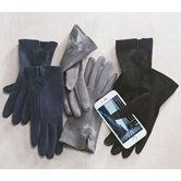 Suede Puff Gloves