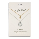 Compass Necklace Set - Never Lost