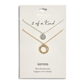 Circle Necklace Set - Sisters