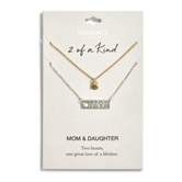 Heart Bar Necklace Set  - Mom/Daughter