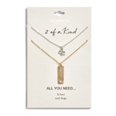 Dog Paw Necklace Set - All You Need