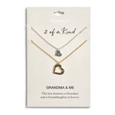 Heart in Heart Necklace Set - Gma & Me