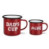 CMP Enamelware Dad's Cup/My Cup set of 2