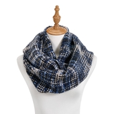 Blue Woven Threads Infinity Scarf