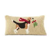 Holiday Dog Breed Hooked Pillows