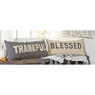 Thankful & Blessed Washed Canvas Pillows