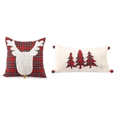Cable Knit Tartan Pillows