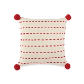 Topstitch Pom-Pom Linen Pillow