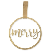 Merry Gold Tin Wreath