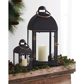 Black Metal Lantern Set