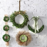 Mini Boxwood Preserved Wreaths