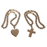 Heart & Cross Pendant Decor Beads