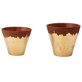 Gold Foil Terracotta Pots