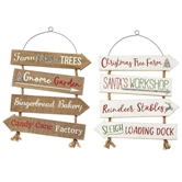 North Pole Directional Signs