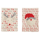 Christmas Character & Sentiment Canvas Towels