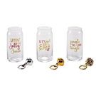 Holiday Beer Glass & Opener Sets