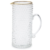 Gold Bubble Glass Pitcher