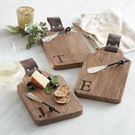 Initial Wood & Leather Bar Board Sets Assortment