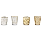 Gold & Silver Mercury Glass Votives