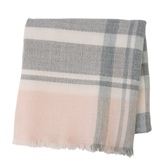 Pink & Gray Rocking Chair Throw