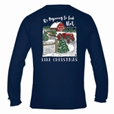 It's Beginning to Look a lot Like Christmas Navy Long Sleeve Asst&FREE Disp
