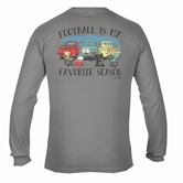 Football is my Favorite Season Grey Long Sleeve Assortment and FREE Display