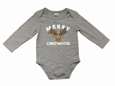 Merry Christmoose Grey Long Sleeve Onesie Assortment and FREE Display
