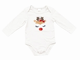 Reindeer Face White Long Sleeve Onesie Assortment and FREE Display