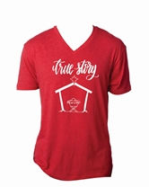 True Story Vintage Red V-Neck Assortment and FREE Display