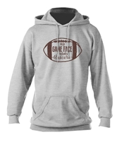 My Game Face includes Mascara Heather Grey Hooded Sweatshirt Asst&FREE Disp