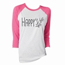 Happy Wife, Happy Life 3/4 Sleeve T-Shirt Assortment and FREE Display