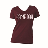 Gameday Maroon V-Neck Assortment and FREE Display